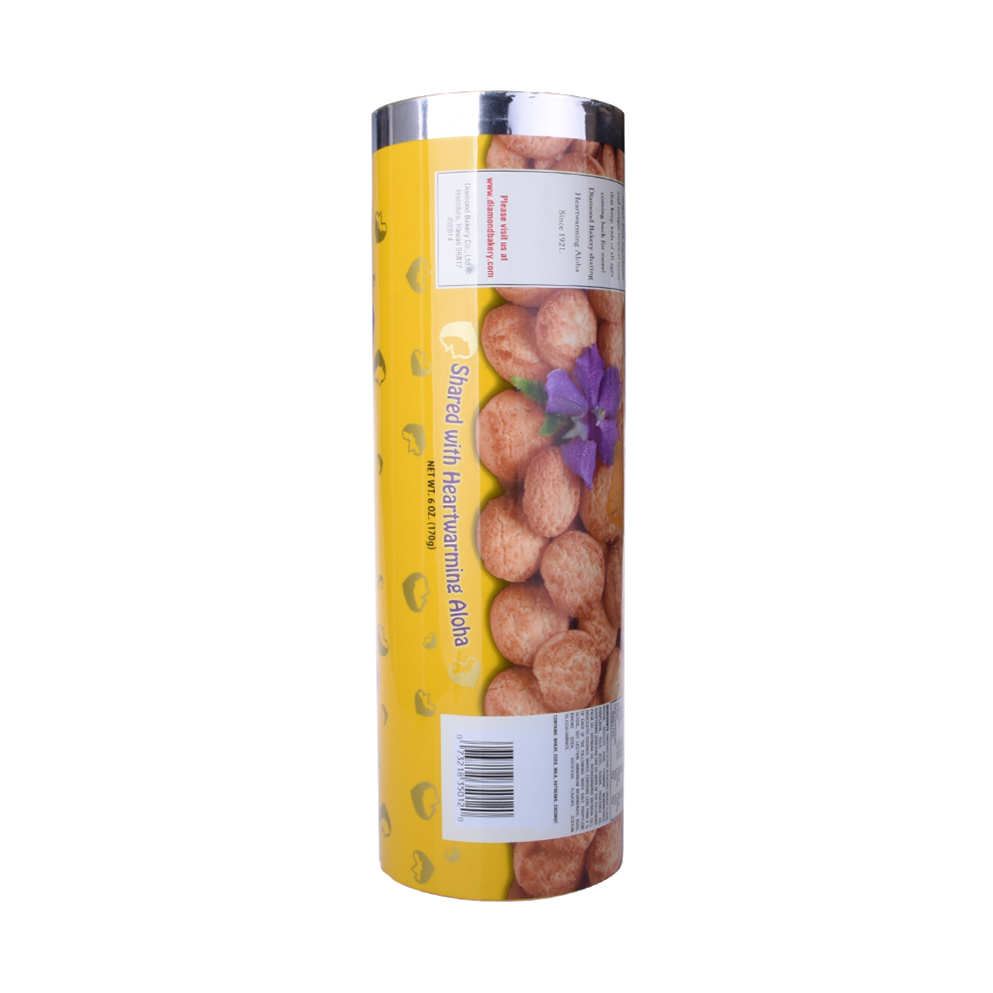 Food Grade Aluminum Foil Customized Design Roll Film for Dried Food Nuts/chocolate/biscuits