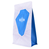 Resealable Biodegradable Customized Coffee Flat Bottom Bag With Compostable Zipper