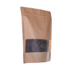 Compostable Stand Up Zipper Pouch Bags with Rectangular Window