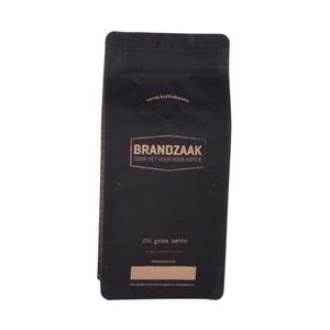 Laminated Recyclable Kraft Paper Coffee Bag Block Bottom Pouch