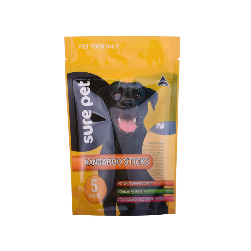 Food Grade Reclosable Ziplock Stand Up Pouch 300g 500g 1kg Dog Cat Pet Food Packaging