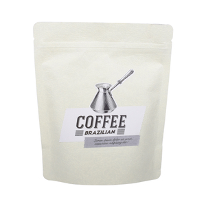 Matte white foil lamination printed doypack for roasted coffee beans