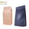 Matt printing coffee bag with degassing valve in kraft paper and laminated material from China
