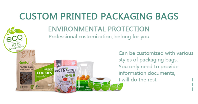 100% compostable bag is widely used in various industries nowadays
