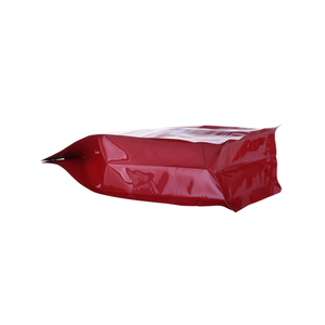 Recycle Materials Hdpe Flat Bottom Ziplock Pouch Coffee Bag