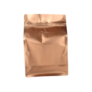 Compostable Copper Foil Coffee Bag 1LB with Valve