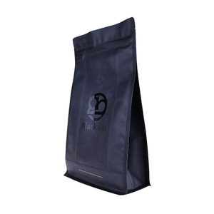 Food Grade Laminated Material Biodegradable Flat Snack Bag For Coffee