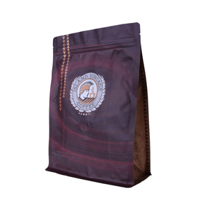 Professional Manufacturer Zipper Top Recyclable Woven Flat Bottom Coffee Tea Bag With Valve