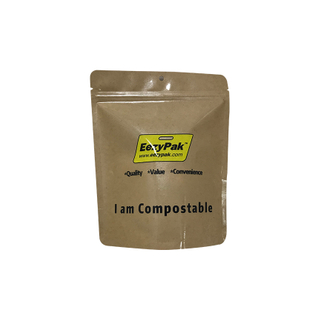 Customized Recyclable PLA Kraft Paper Food Bag Coffee Packaging Pouch