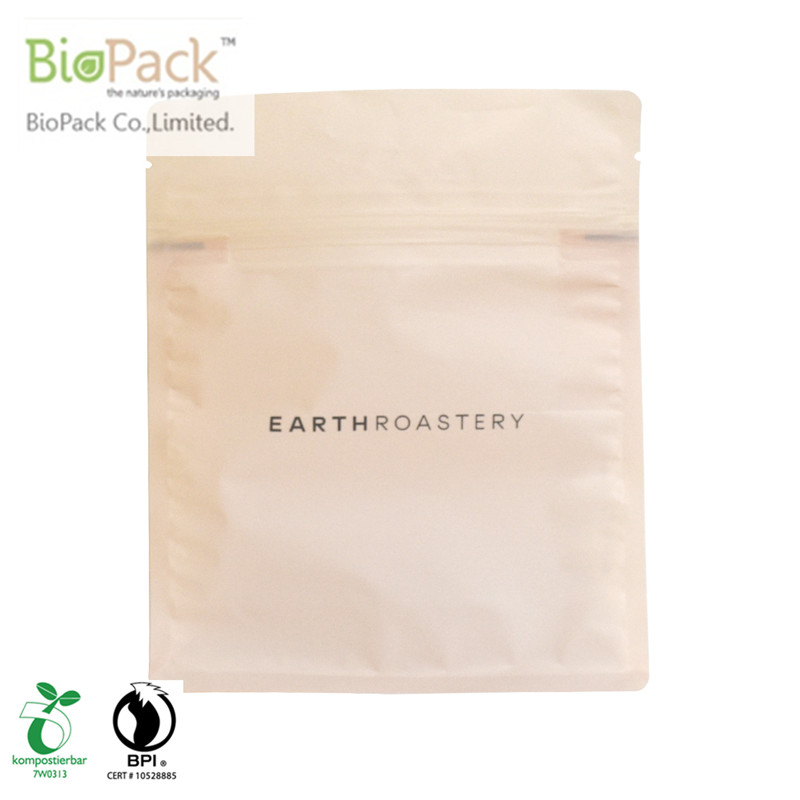 Fully Compostable Custom printed Standing Coffee Bag With Valve from China