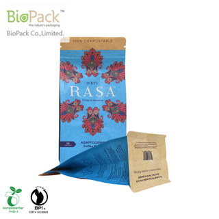 Wholesale Food grade Gusset Stand Up Coffee bag with Custom Logo From China