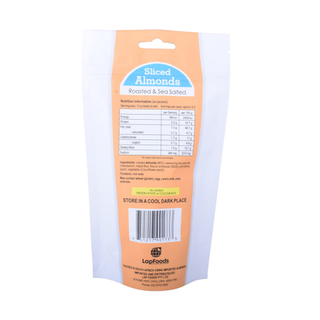 Empty Nut Snack Resealable Food Packet Packaging Recyclable Pouch