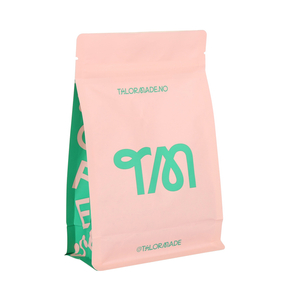 Wholesale Customized 100% Compostable Biodegradable Kraft Paper Bag Flat Bottom Pouch for Dried Food