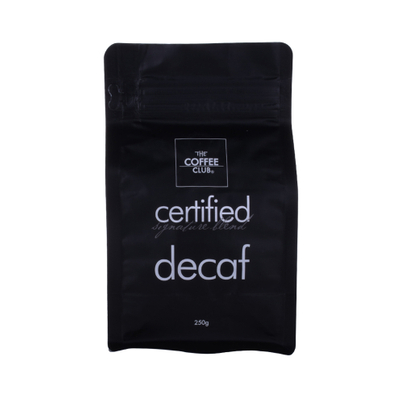 Compostable Side gusset flat bottom custom printed coffee bag packaging