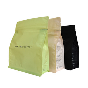 China manufacturing Laminated Material plastic flat snack bag for coffee