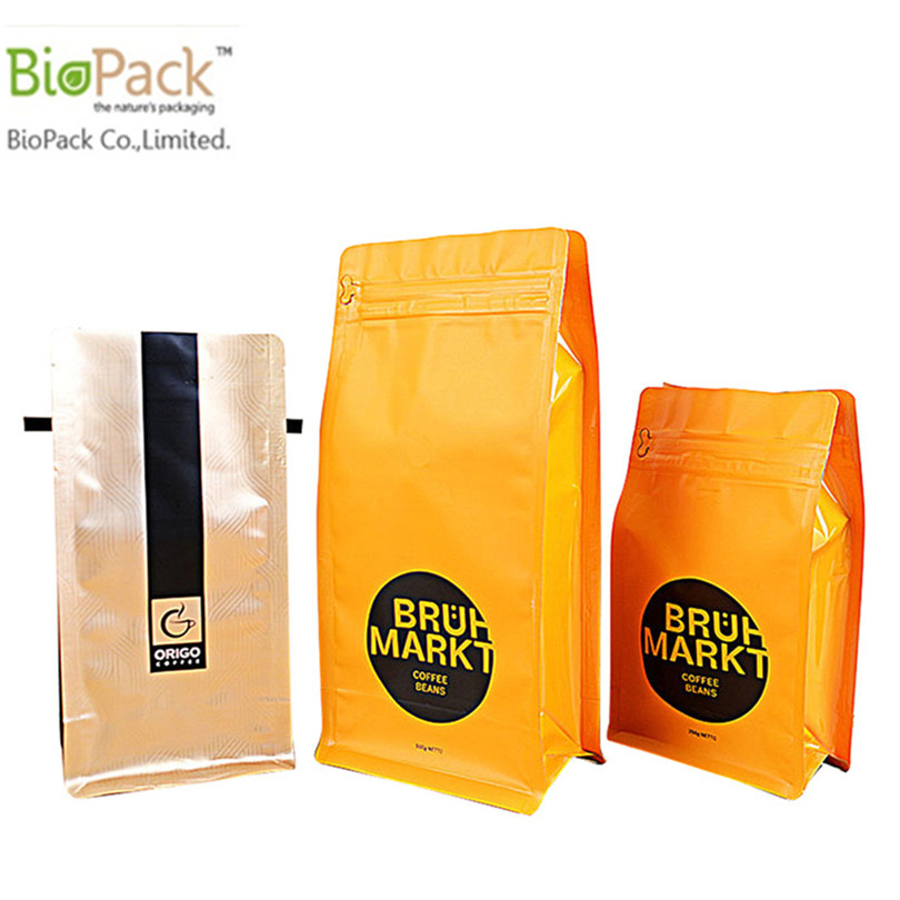 Eco Friendly Plastic Coffee Bag With Compostable Ziplock and Valve Manufacturer From China