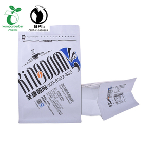 100% cornstarch Custom printed Matt Black Coffee packaging bag from China
