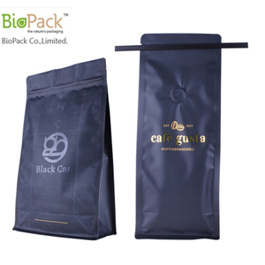 High quality Stand up 12 oz Biodegradable coffee bag with BPI certificate Factory From China