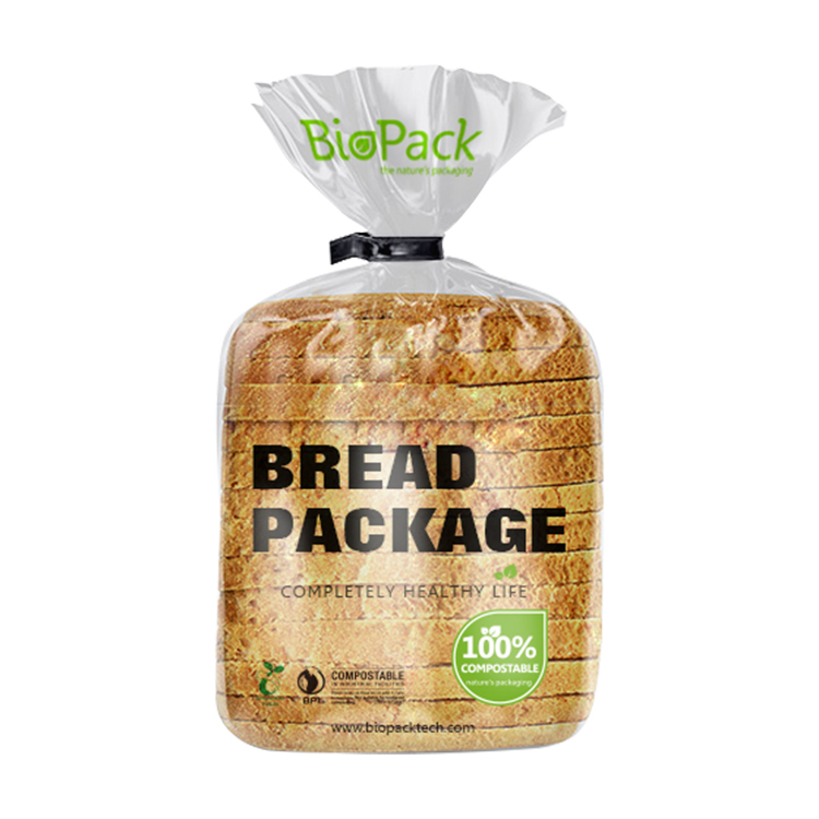 Eco-friendly PLA Material Biodegradable Transparent Bread Packaging Bags