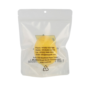 Biodegradable Sustainable Green Polyethylene Recyclable PE4 Transpartent Plastics Bag