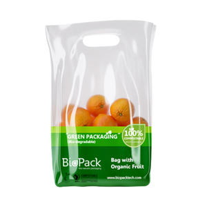 Customized Biodegradable Plastic Shopping Bag for Fruits/ Clothes