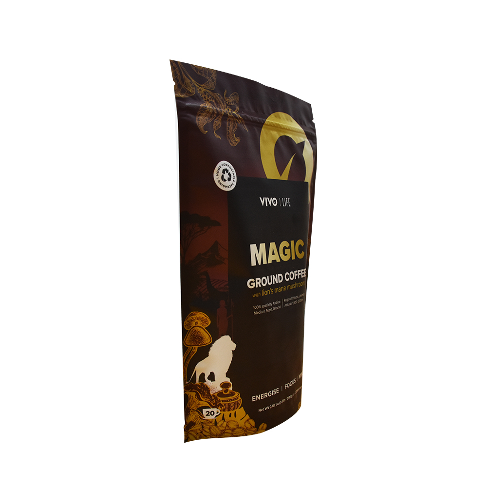 High Barrier Stand up Custom Coffee Pouch Plastic Packaging Supplier From China