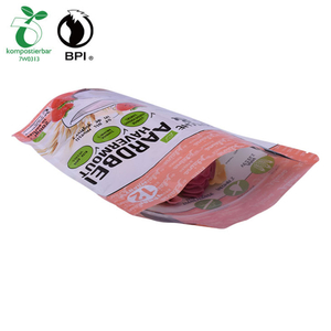 100% Compostable Dry Fruit Corn Starch Reusable Ziplock Snack Bag