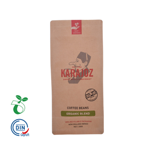Flat Bottom Biodegradable Compostable Paper Coffee Bag