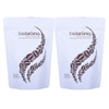 Biodegradable Coffee Beans Packaging Matte Finish Stand Up Bags With Zipper