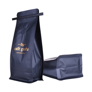 Matte Stand Up Packaging Recyclable Kraft Paper Bags for Coffee Bean