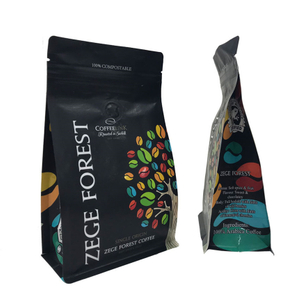 Digital Printed Flat Bottom Pouch For Snack Coffee Packaging