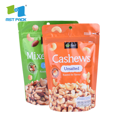 Resealable Plastic Bags Wholesale Custom Packaging Stand Up Pouches With Zipper
