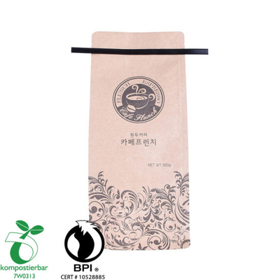 Eco Side Gusset Tea Pouch Foil Kraft Paper Bag Supplier in China