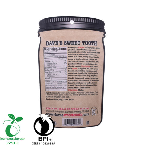 Eco Friendly PLA and Pbat Coffee Bag with Design Supplier in China