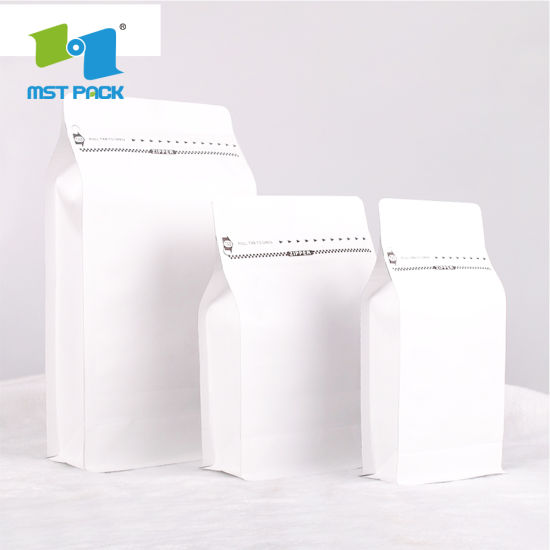 Biodegradable Food Grade Custom Printed Aluminum Foil coffee Bag Coffee Bean Package Bag with Valve and Zip Lock