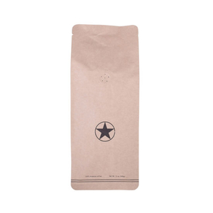 100% Biodegradable Materials Compostable Certificated Food safety Packaging Coffee Bag