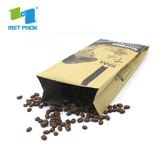 Wholesale Eco Luxury Custom Printed Side Gusset Biodegradable Plastic Instant Coffee Packaging Bags