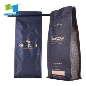 Canada Coffee Packaging Companies Supply Eco Friendly Biodegradable Flat Bottom Coffee Bean Packaging Bag Wholesale