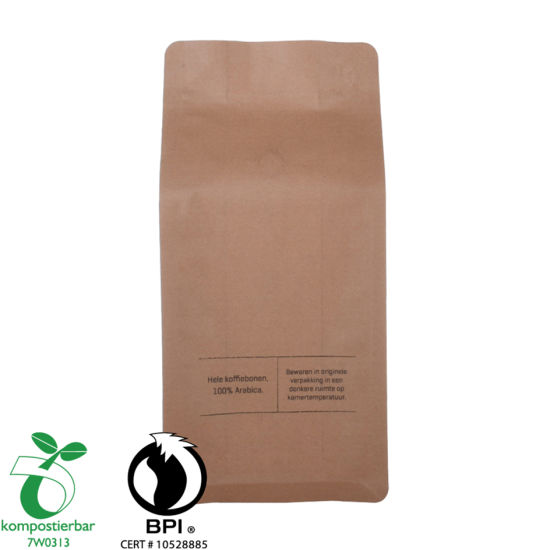 Ziplock Box Bottom Coffee Paper Packaging Bag Factory From China