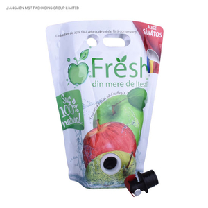 Print Foil Drink Food Nylon Bag Spout Pouch Wine Stand Up Pouch With Vitop Valve