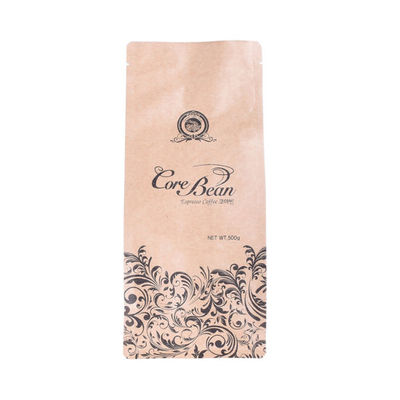 Compostable Packaging PLA Plastic Bags Kraft Paper Biodegradable Coffee Bag
