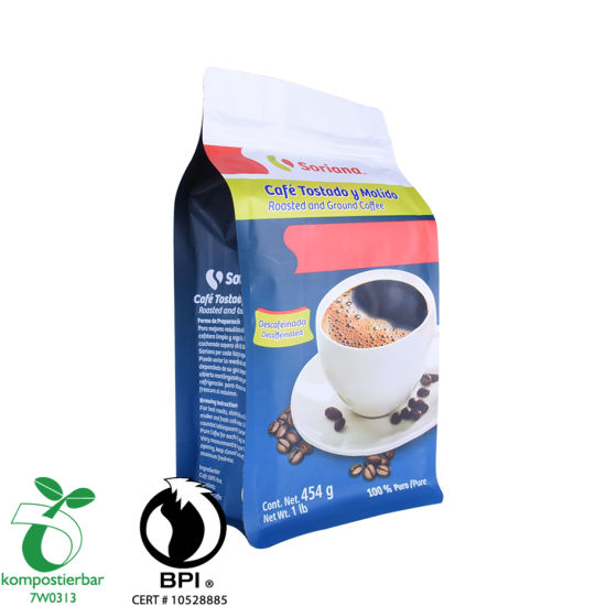 Ziplock Box Bottom Coffee Pouch Valve Wholesale From China
