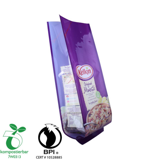 Laminated Material Side Gusset Biodegradable Pbat Bag Wholesale From China